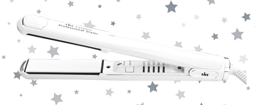 White Ceramic Hair Straighteners
